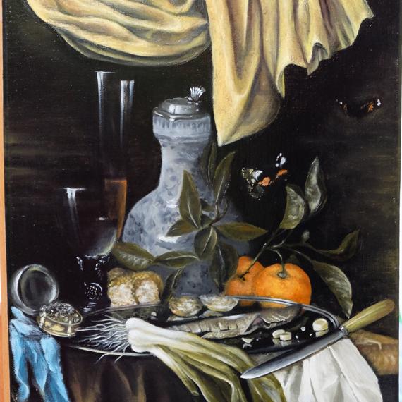 Натюрморт. Копия картины Juriaen van Streek — Snack