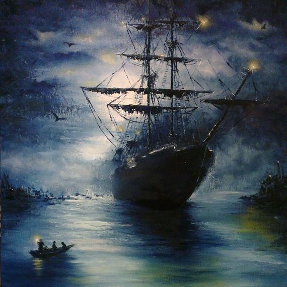 Картина маслом «Ночной красавец»