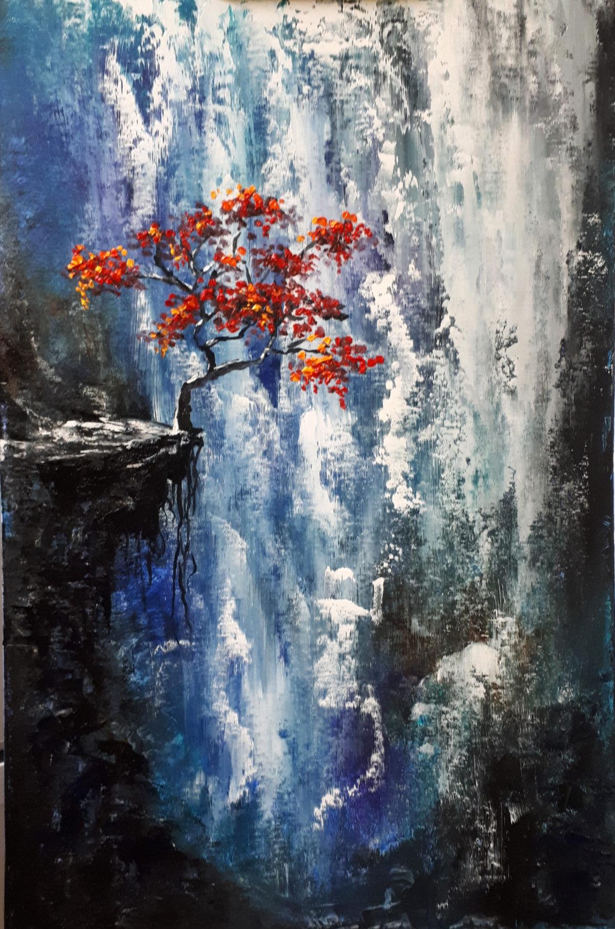 Картина маслом «Водопад»