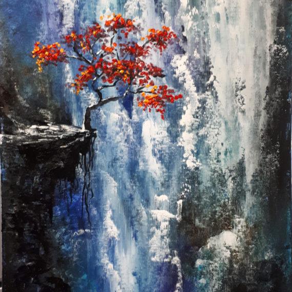Картина маслом «Водопад» (60х40см)