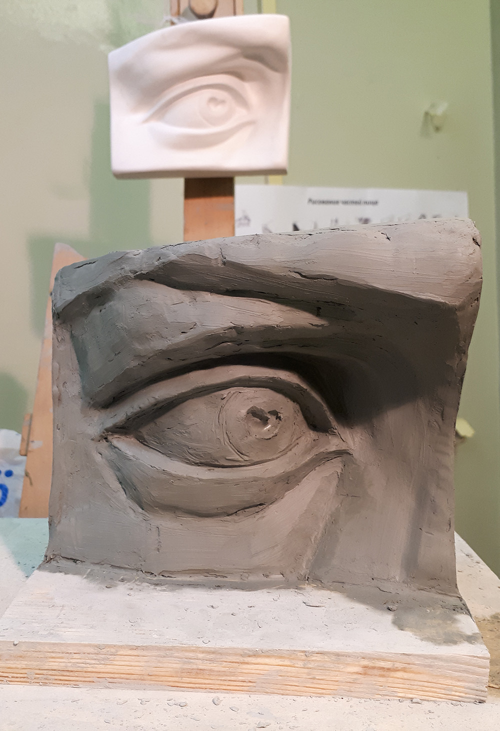 Скульптура «Давид» Микеланджело. Глаз.